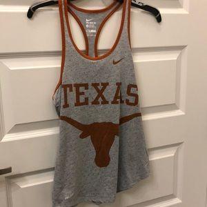 Nike dri fit university of Texas UT tank top